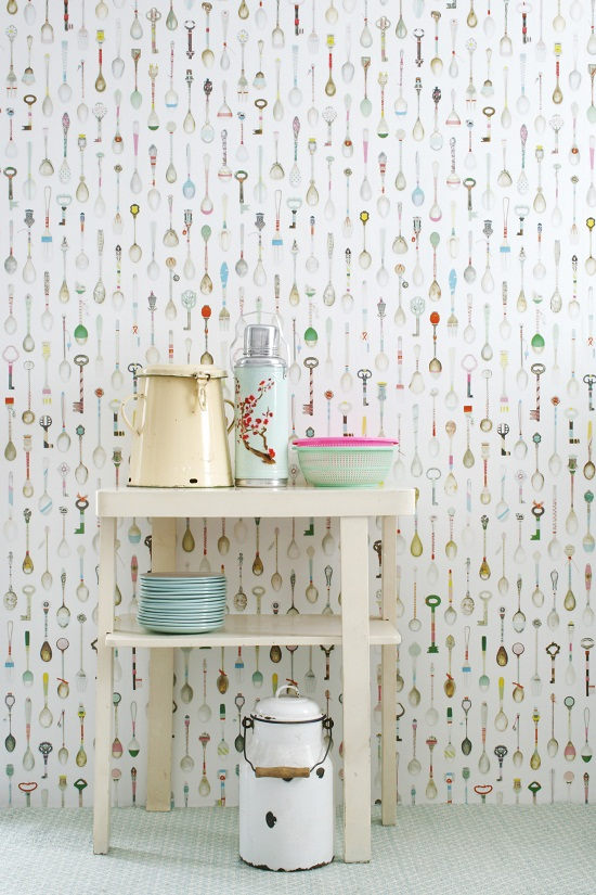 Vintage_teaspoons_Wallpaper from Pierrot et Coco