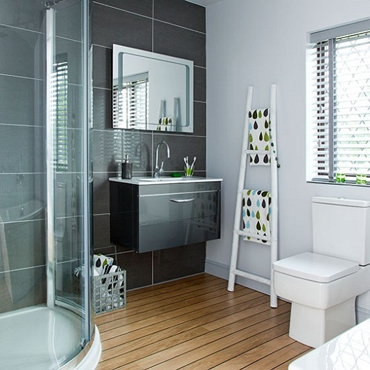 quadrant shower via Living etc