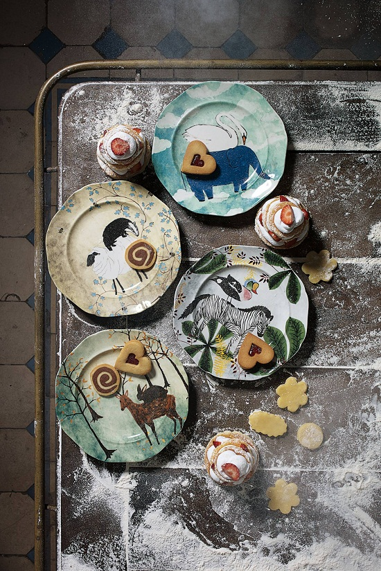 Anthropologie Echo Treks Dessert Plates £14