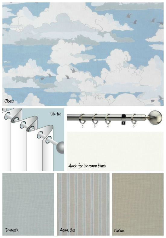 Clouds and other fabrics from The Natural Curtain Company