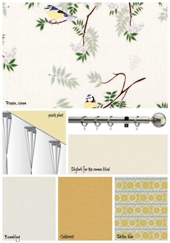 Rowen Cream and other fabrics from The Natural Curtain Company