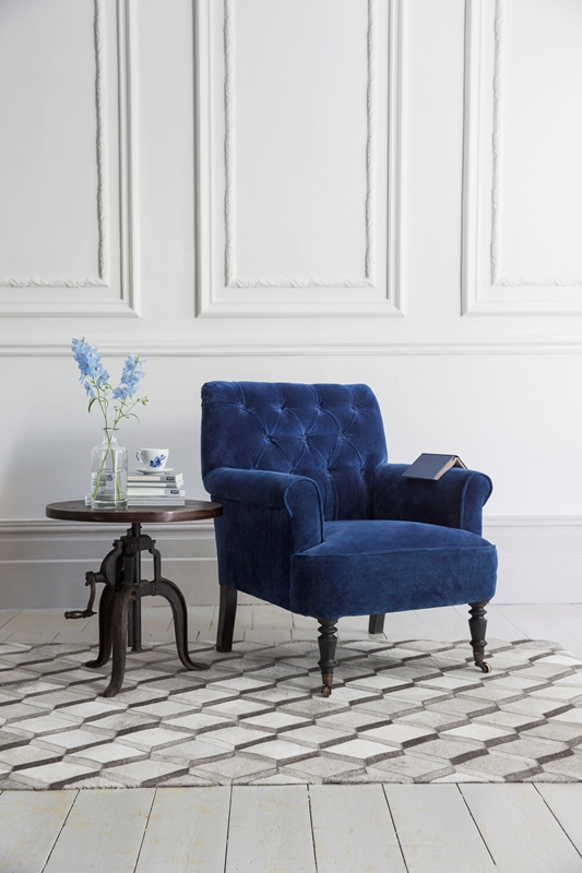 Atkin and Thyme Pimlico Armchair in Velvet