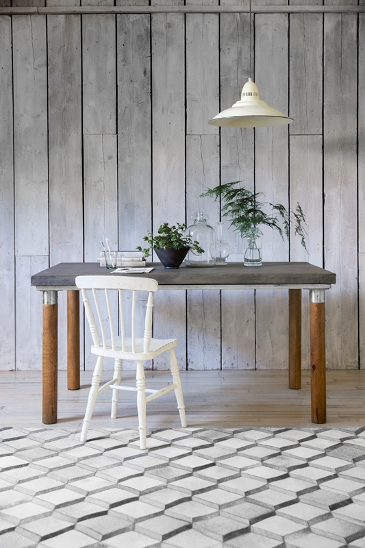 Barcelona Dining Table in Grey, Atkin and Thyme