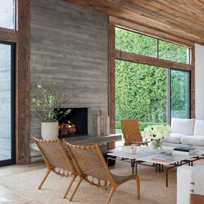 Concrete walls via Architectural Digest