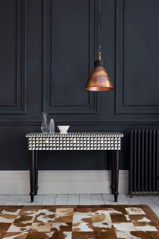 Cuboid Bone Inlay Console Table , Atkin and Thyme