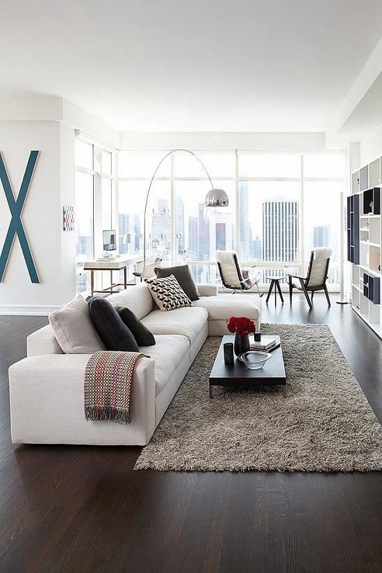 Manhatten Apartment with a view via Home Adore [1]