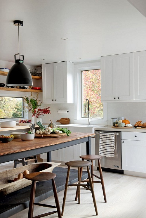 White meets rustic via NY Times