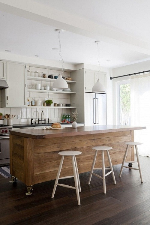 White meets rustic via Remodelista