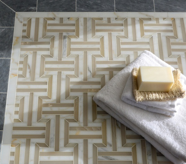 New Ravenna - Illusions Collection - Gaston in polished Cream Onyx, Calacatta and Allure