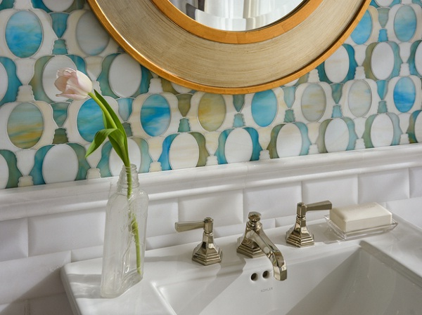New Ravenna - Illusions Collection - Janus Petite in Aquamarine and Quartz jewel glass.