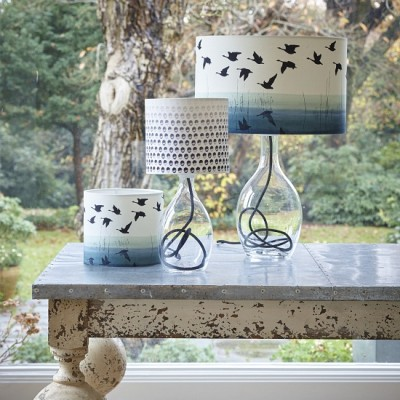 Anna Jacobs Welsh Reflection and Seeing in B&W lampshades