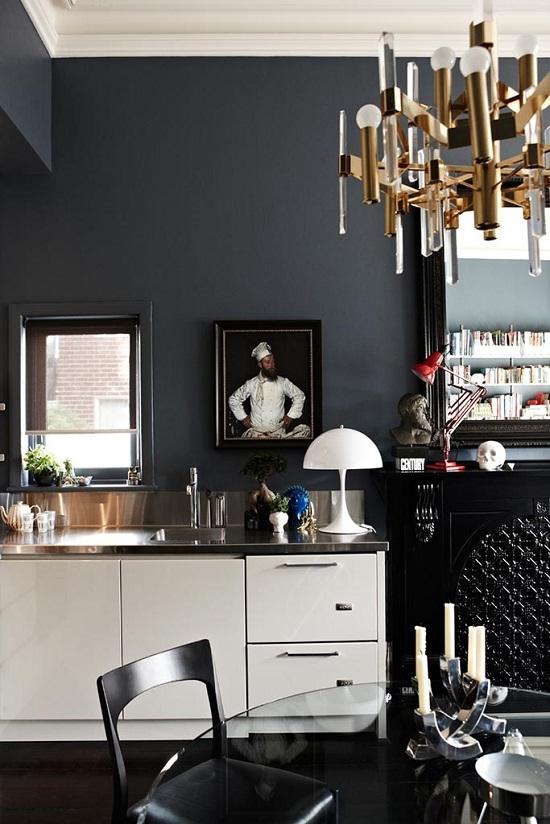 Dark and dramatic mansion flat of Interior Designer Chelsea Hing [1]