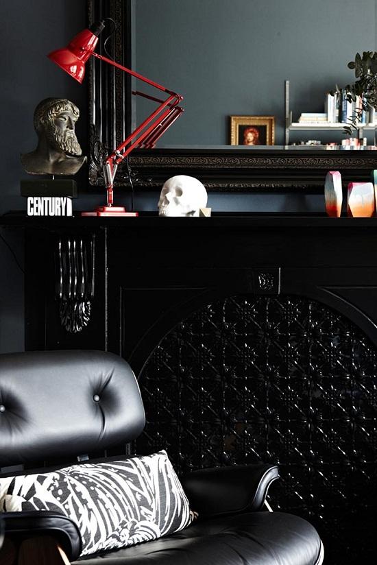 Dark and dramatic mansion flat of Interior Designer Chelsea Hing [5]