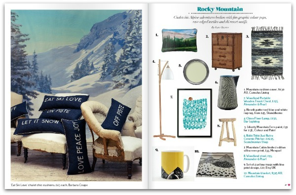 Heart Home mag January 2015 - Shop Alpine chic