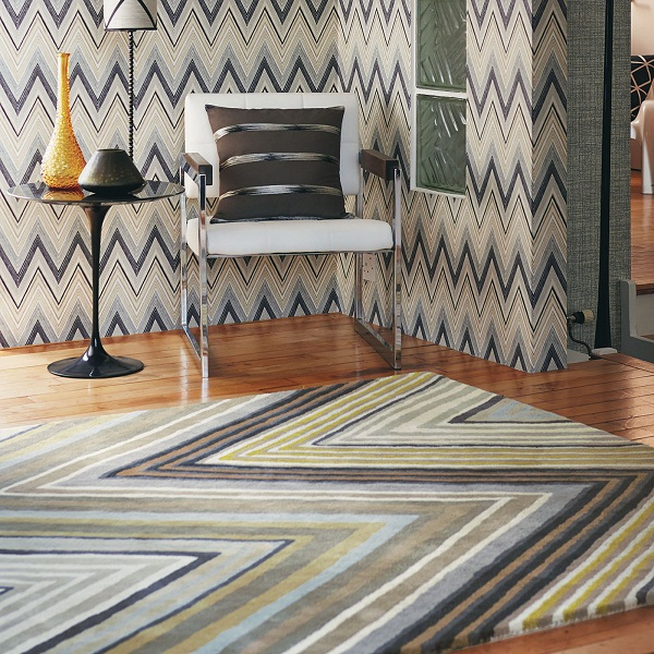 Scion - Groove rug via The Rug Seller