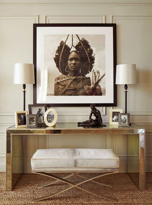 Tribal Art via Traditional Home