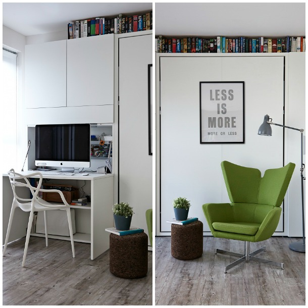A compact docklands apartment via Boscolo Architects - LIVING