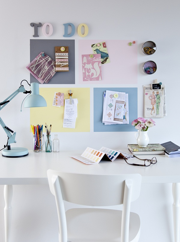 Rooms made for you magnetic plaster in the Study
