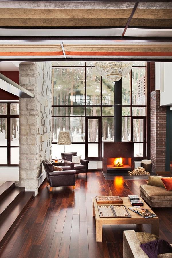 Stunning Wooden Floor Via vartnyahem