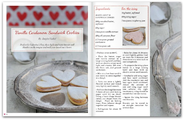 Valentines day recipe - Heart Home mag February 2015