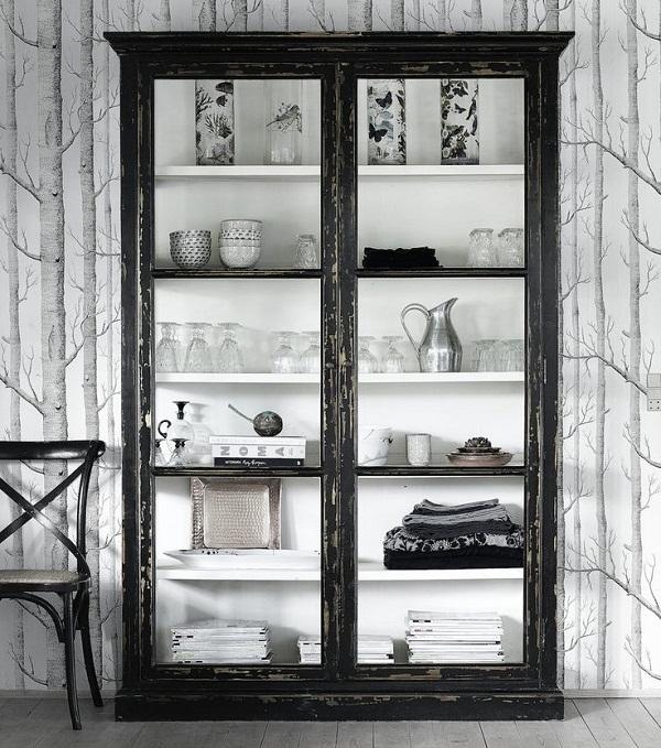 Design Vintage Black Cabinet SS15