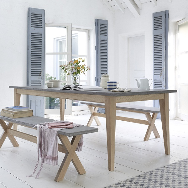 Loaf - Conker kitchen table from £795 & Budge bench from £325