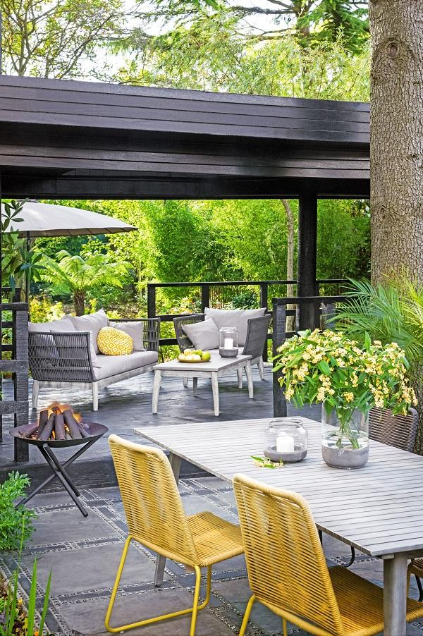 John Lewis La Hacienda Axis firepit  119  John Lewis Espina 8 seat dinning  table. Outdoor Living Inspiration from John Lewis   Dear Designer