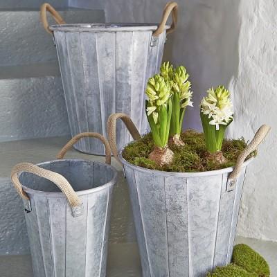 Nordic House, Zinc Planter Set, £75