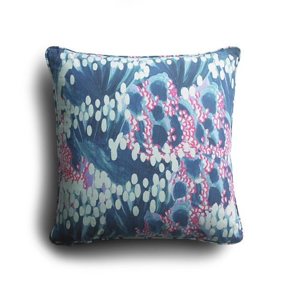 sofa.com Design Lab Charlotte Beevor Cushion in Ocean £59