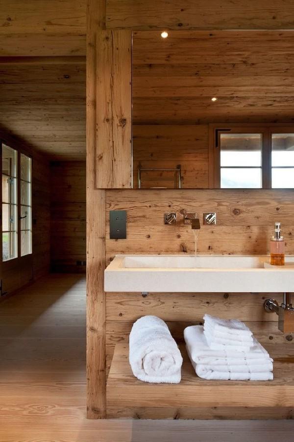 The rustic style bathroom dear designer - Rustic chic bathroom ...