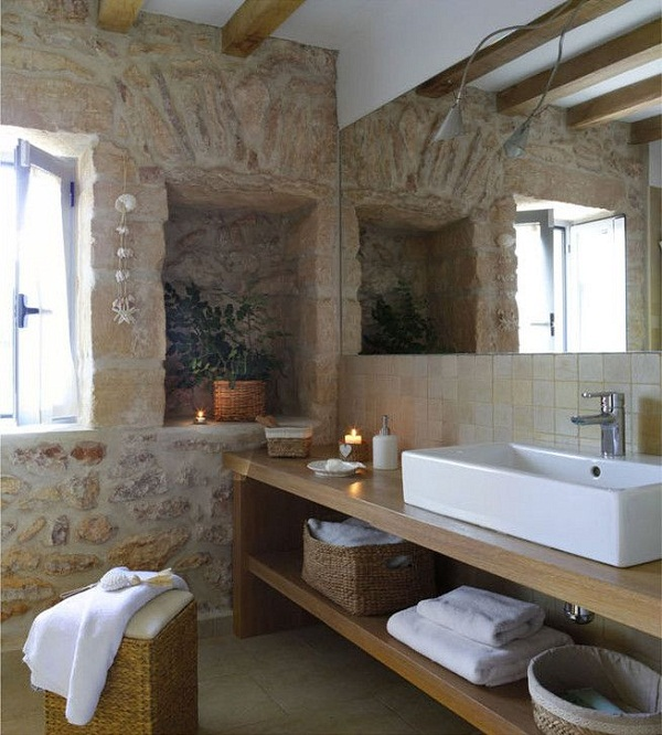 Rustic style bathroom by Deu i Deu via Homify