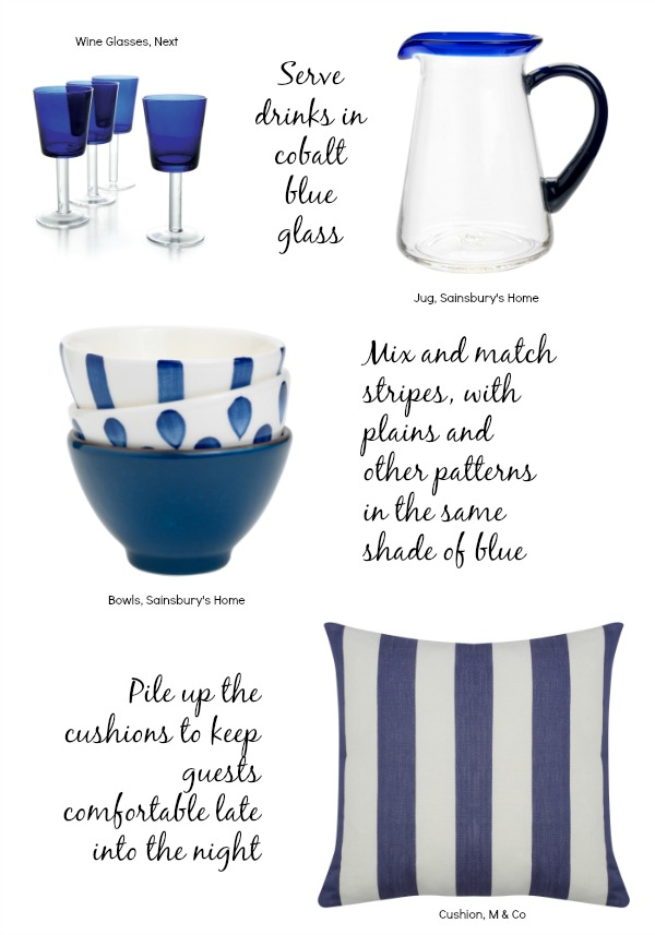 Summer stripes and Blue and White