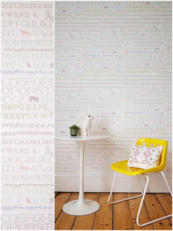 Abigail Edwards, Cross Stitch wallpaper in Candy