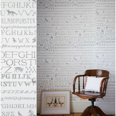 Abigail Edwards, Cross Stitch wallpaper in Monochrome