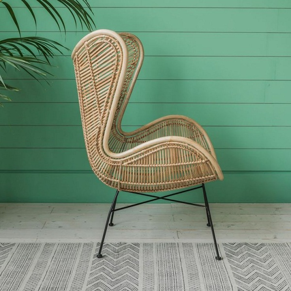 Graham and Green - Rattan Wing Chair