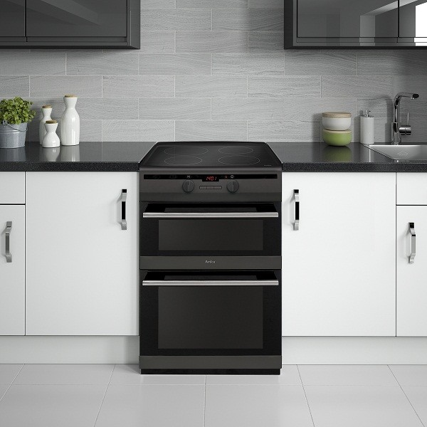 AMICA MATT BLACK DOUBLE OVEN