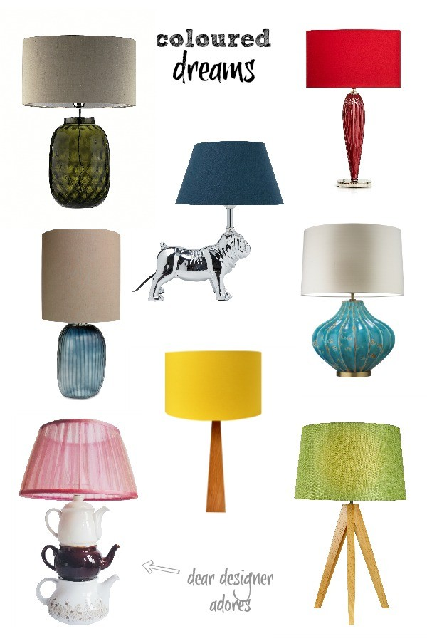 Coloured Tablelamps via Dear Designers