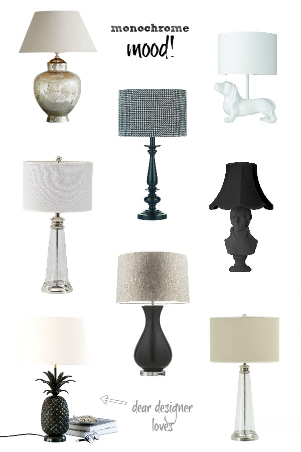 Monochrome Tablelamps via Dear Designers