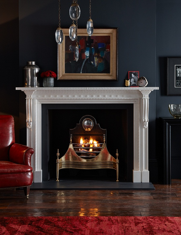 Locke with Croome Brass Fire Basket from Chesney's