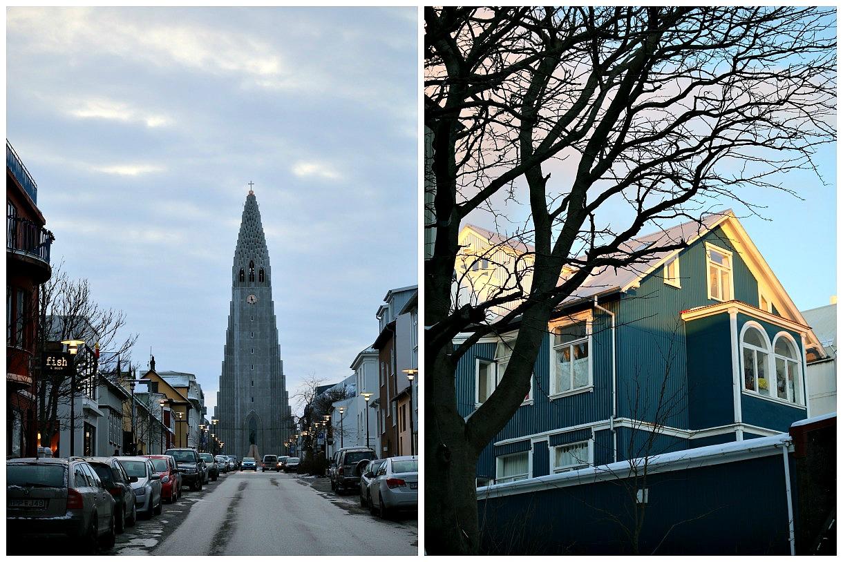 Hallgrímskirkja church, and old town, Reykjavik