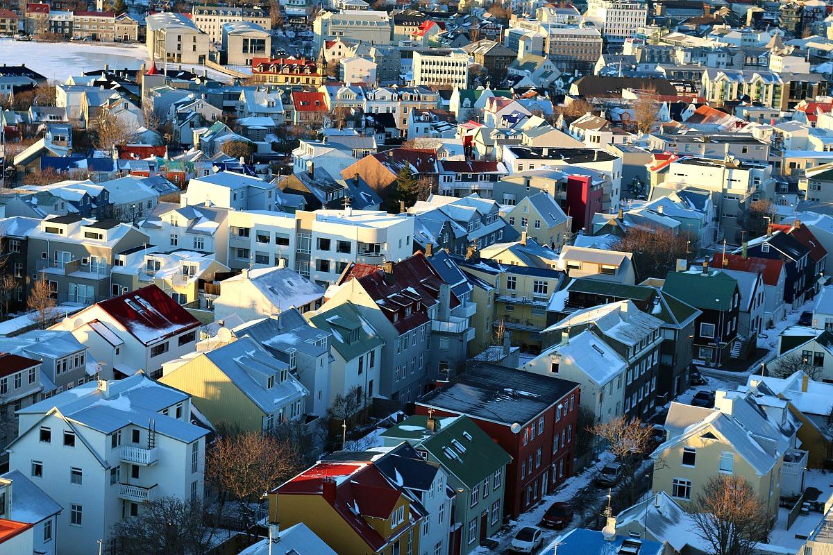 View from Hallgrimskirkja church, Reykjavik