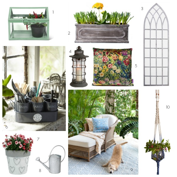 garden room essentials, accessories, decorative items