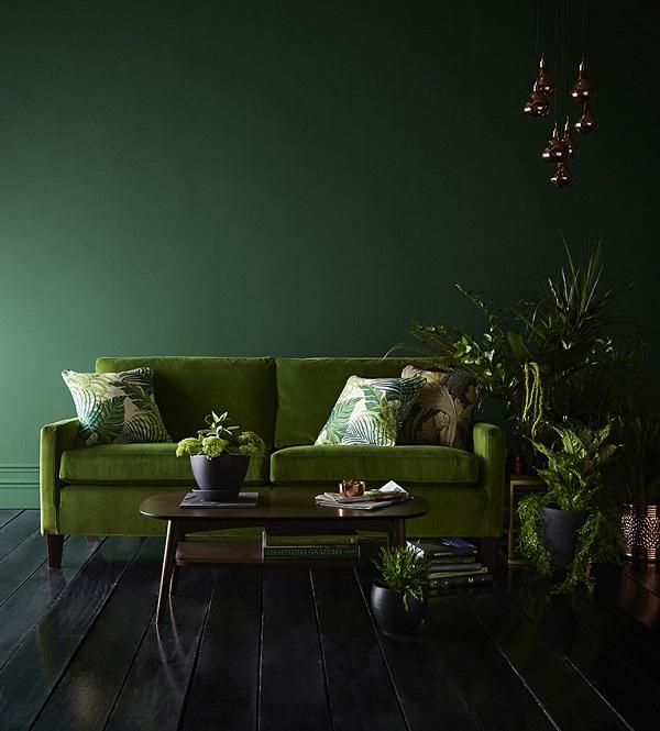 botanical trend, green,leaf prints
