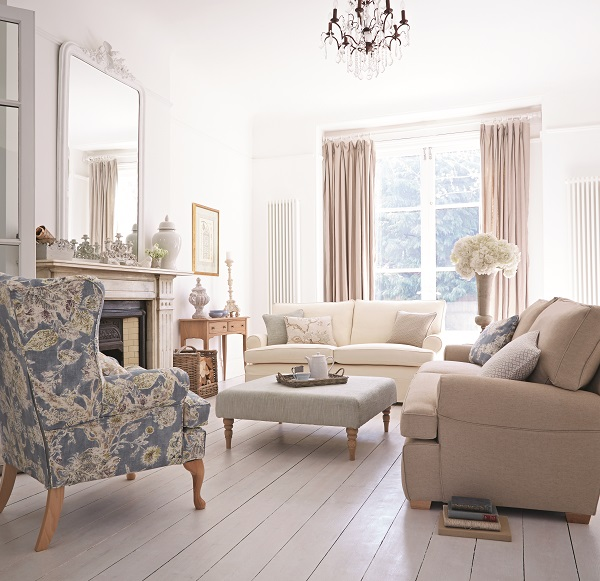 pastel colours, floral prints, the english country house look