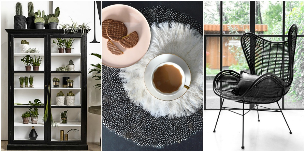 black furniture and accessories for the home
