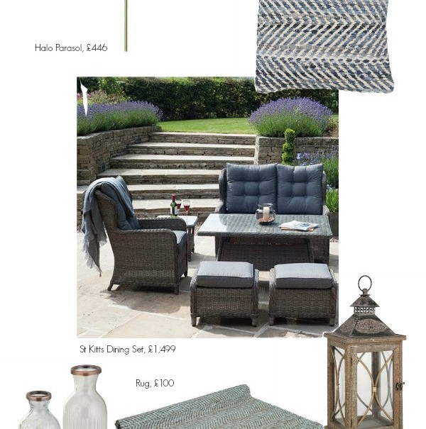 romantic english garden, furniture and accessories