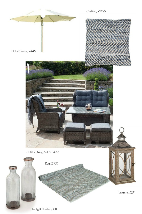 romantic english garden, furniture and accessories