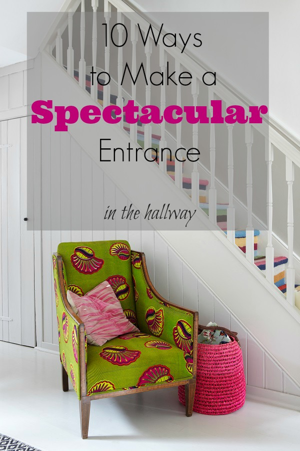 Farrow and Ball - Strong White Hallway And Stairs - 10 ways to make a spectacular entrance in the hallway