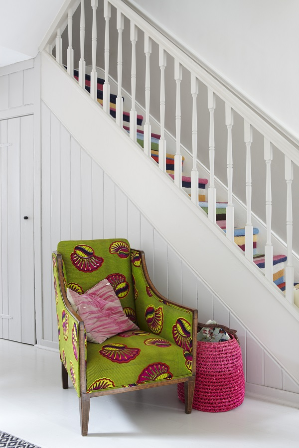 Farrow and Ball - Strong White Hallway And Stairs
