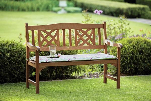 Homebase, Peru Ornate 2 Seater Wooden Garden Bench, £79.99